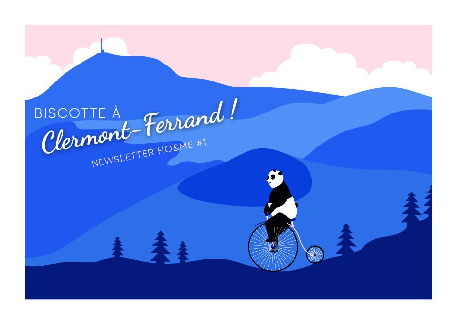 panda faisant du vélo en montagne